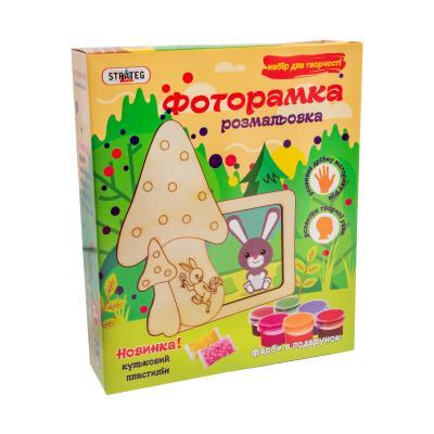 Купить ФОТОРАМКА-РАСКРАСКА ИЗ ДЕРЕВА ГРИБОЧЕК, STRATEG (8007)