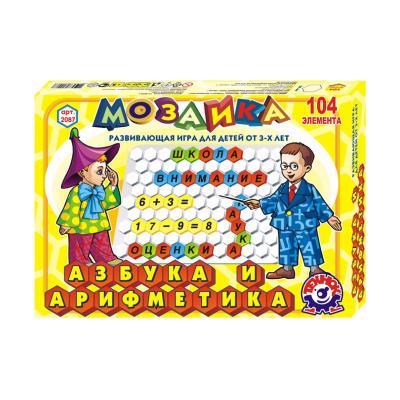 Купить НАБОР ДЛЯ ТВОРЧЕСТВА ТЕХНОК МОЗАИКА АЗБУКА И АРИФМЕТИКА, (РУС)(2087)