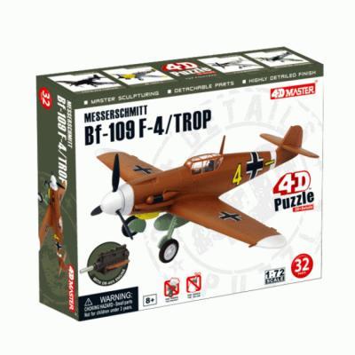 Купить ОБЪЕМНЫЙ ПАЗЛ ИСТРЕБИТЕЛЬ BF-109 MESSERSCHMITT F-4/TROP, 32 ЭЛЕМ., 4D MASTER (26907)