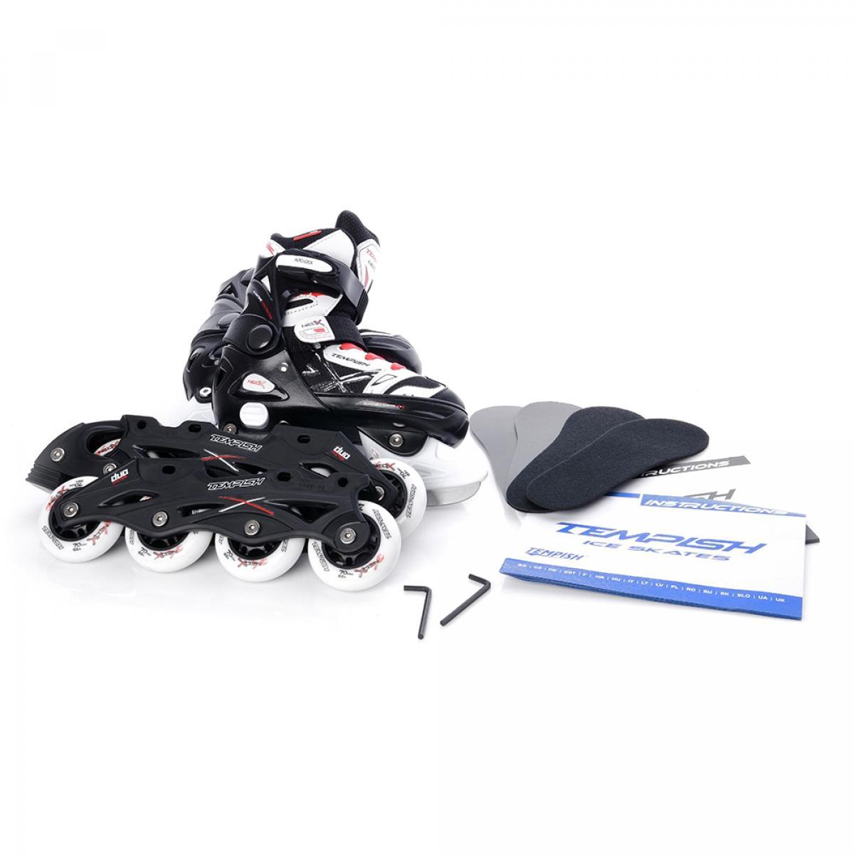 c69bccd0916a0d Роликовые-ледовые коньки Neo-x Duo, размер 29-32, S, черно-белые ...