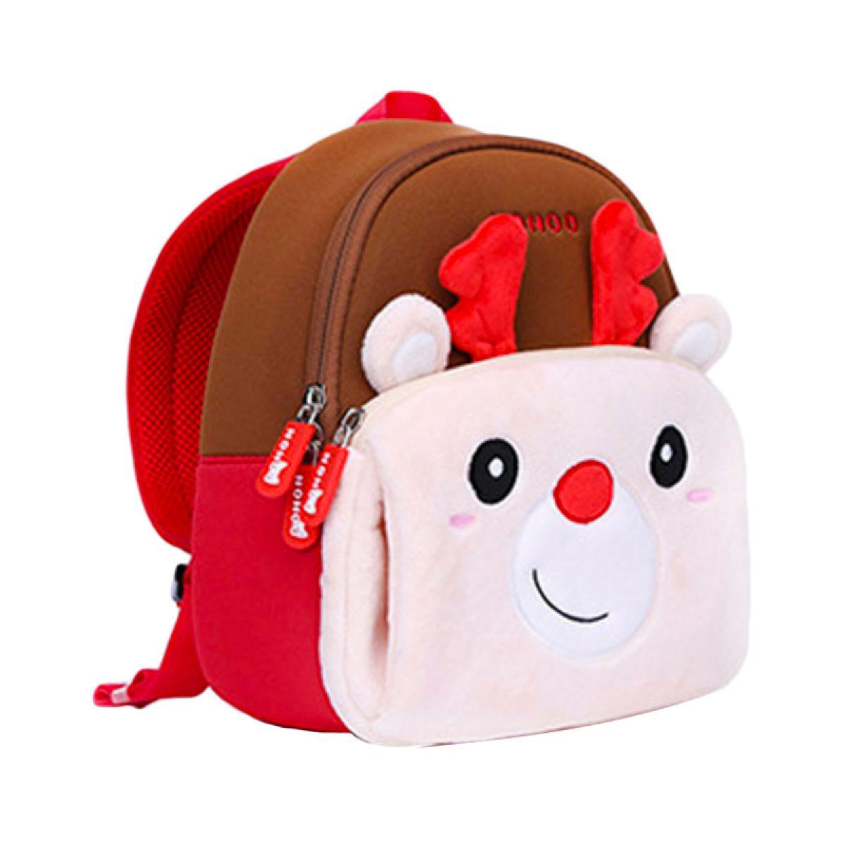 4049ff85ca91 Детский рюкзак Олененок Рудольф, маленький, 24х21х10 см, Nohoo (NHQ006)
