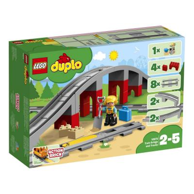 Купить ЖЕЛЕЗНОДОРОЖНЫЙ МОСТ, LEGO (10872)