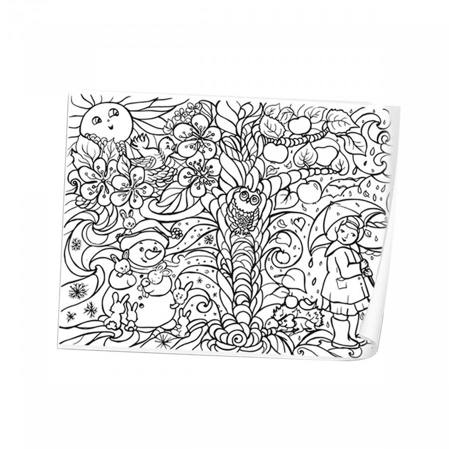 Купить РАСКРАСКА STRATEG РАСКРАСКА-АНТИСТРЕС COOL COLORING ЧЕТЫРЕ СЕЗОНА(1104)_1
