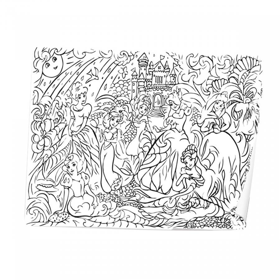 Купить РАСКРАСКА STRATEG РАСКРАСКА-АНТИСТРЕС COOL COLORING ПРИНЦЕССЫ(1103)_1