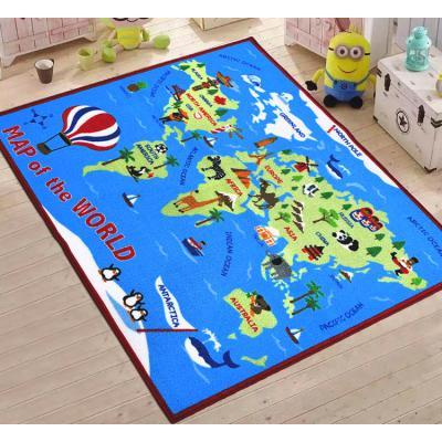 Купить КОВРИК ДЛЯ ДЕТСКОЙ КОМНАТЫ  WORLD MAP, 100Х150 СМ, BERNI (45984)