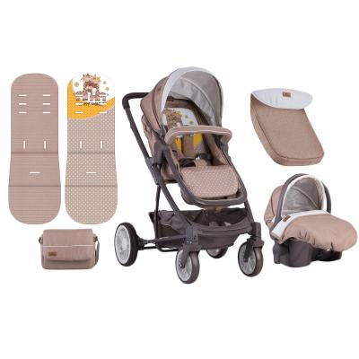 Купить КОЛЯСКА 3В1 S-500 SET BEIGE&YELLOW HAPPY FAMILY, LORELLI (10020851803)