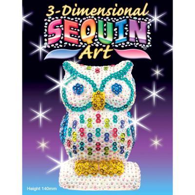 Купить НАБОР ДЛЯ ТВОРЧЕСТВА 3D NEW OWL, SEQUIN ART (SA1409)