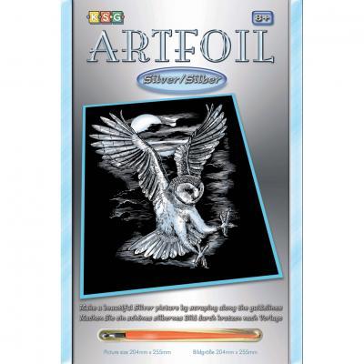 Купить НАБОР ДЛЯ ТВОРЧЕСТВА ARTFOIL SILVER BARN OWL, SEQUIN ART (SA0537)