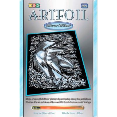 Купить НАБОР ДЛЯ ТВОРЧЕСТВА ARTFOIL SILVER DOLPHIN, SEQUIN ART (SA0608)