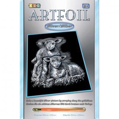 Купить НАБОР ДЛЯ ТВОРЧЕСТВА ARTFOIL SILVER LAMBS, SEQUIN ART (SA0538)