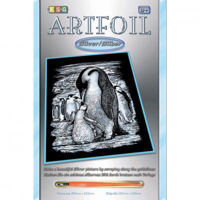 Купить НАБОР ДЛЯ ТВОРЧЕСТВА ARTFOIL SILVER PENGUINS, SEQUIN ART (SA0609)