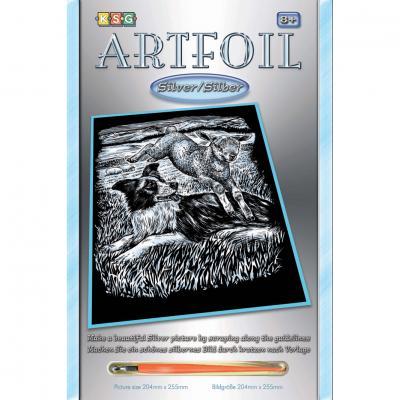 Купить НАБОР ДЛЯ ТВОРЧЕСТВА ARTFOIL SILVER SHEEPDOG AND LAMB, SEQUIN ART (SA0606)