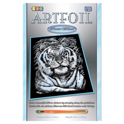 Купить НАБОР ДЛЯ ТВОРЧЕСТВА ARTFOIL SILVER WHITE TIGER, SEQUIN ART (SA1017)