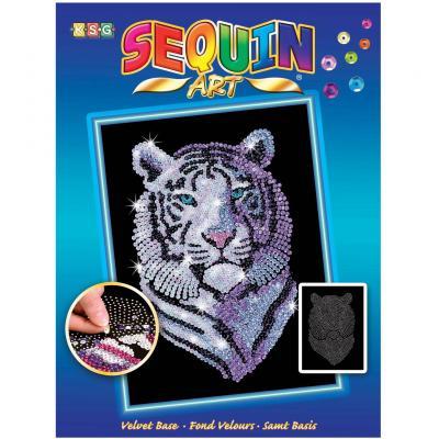 Купить НАБОР ДЛЯ ТВОРЧЕСТВА BLUE SNOW TIGER, SEQUIN ART (SA1217)