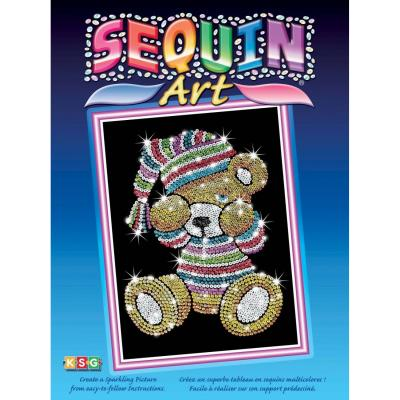 Купить НАБОР ДЛЯ ТВОРЧЕСТВА BLUE TEDDY, SEQUIN ART (SA0616)