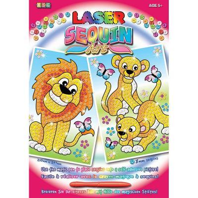 Купить НАБОР ДЛЯ ТВОРЧЕСТВА LASER LIONS, SEQUIN ART (SA1318)