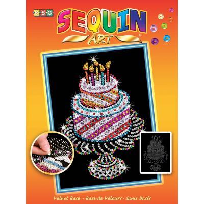 Купить НАБОР ДЛЯ ТВОРЧЕСТВА ORANGE BIRTHDAY CAKE, SEQUIN ART (SA1506)