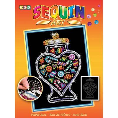 Купить НАБОР ДЛЯ ТВОРЧЕСТВА ORANGE CANDY JAR, SEQUIN ART (SA1505)
