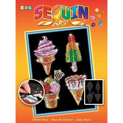 Купить НАБОР ДЛЯ ТВОРЧЕСТВА ORANGE ICE CREAMS, SEQUIN ART (SA1504)