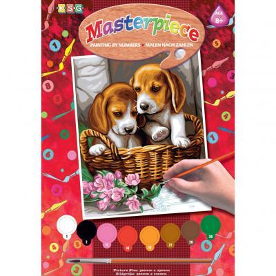 Купить КАРТИНА ПО НОМЕРАМ JUNIOR BASKET OF PUPPIES, 30Х23 СМ, SEQUIN ART (SA1042)