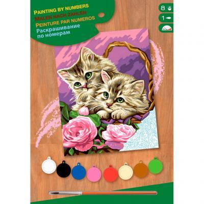 Купить КАРТИНА ПО НОМЕРАМ JUNIOR FLORAL KITTENS, 30Х23 СМ, SEQUIN ART (SA1041)