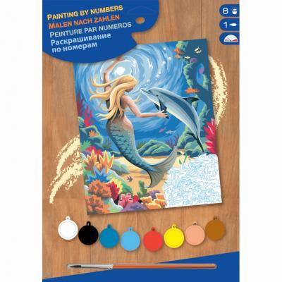 Купить КАРТИНА ПО НОМЕРАМ JUNIOR MERMAID, 30Х23 СМ, SEQUIN ART (SA0127)