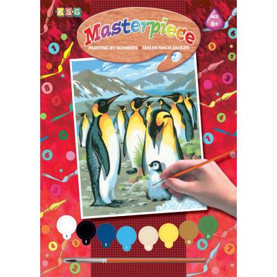 Купить КАРТИНА ПО НОМЕРАМ JUNIOR PENGUINS, 30Х23 СМ, SEQUIN ART (SA0033)