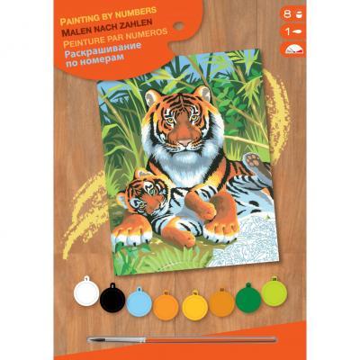 Купить КАРТИНА ПО НОМЕРАМ JUNIOR TIGERS, 30Х23 СМ, SEQUIN ART (SA0029)