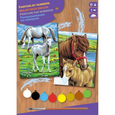 Купить КАРТИНЫ ПО НОМЕРАМ JUNIOR-PAIRS HORSES, 30Х23 СМ, 2 ШТ., SEQUIN ART (SA0215)