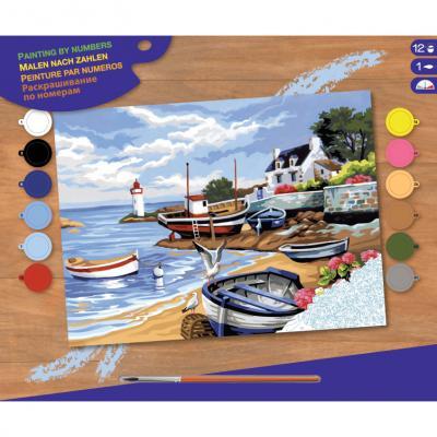 Купить КАРТИНА ПО НОМЕРАМ SENIOR FISHING VILLAGE, 30Х23 СМ, SEQUIN ART (SA1035)