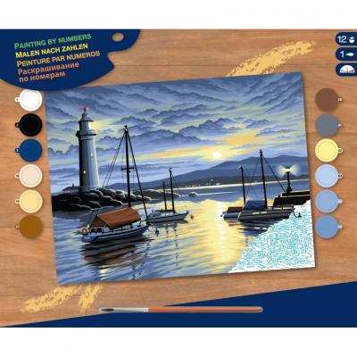 Купить КАРТИНА ПО НОМЕРАМ SENIOR HARBOUR AT SUNRISE, 30Х23 СМ, SEQUIN ART (SA0427)