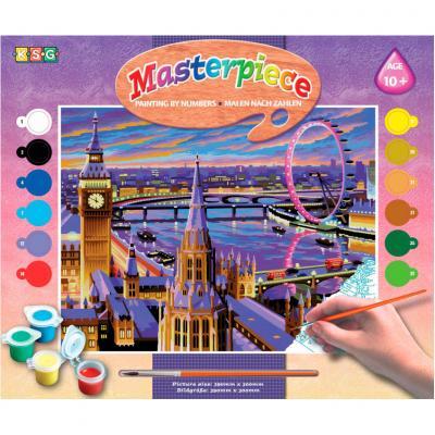 Купить КАРТИНА ПО НОМЕРАМ SENIOR LONDON, 39Х30 СМ, SEQUIN ART (SA0422)