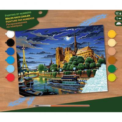 Купить КАРТИНА ПО НОМЕРАМ SENIOR PARIS, 39Х30 СМ, SEQUIN ART (SA0424)