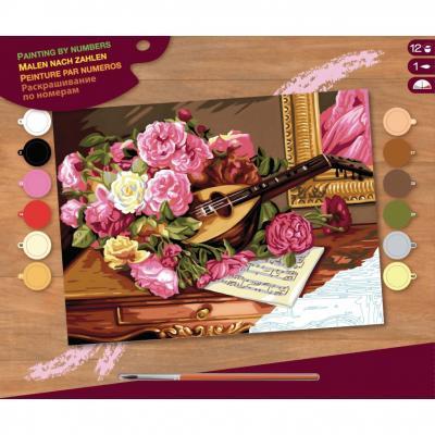 Купить КАРТИНА ПО НОМЕРАМ SENIOR ROMANTIC BOUQUET, 39Х30 СМ, SEQUIN ART (SA1037)