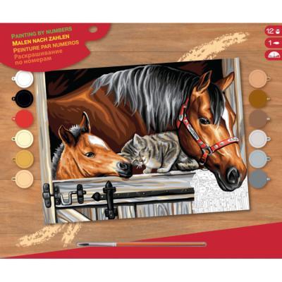 Купить КАРТИНА ПО НОМЕРАМ SENIOR STABLE DOOOR TRIO, 39Х30 СМ, SEQUIN ART (SA1523)