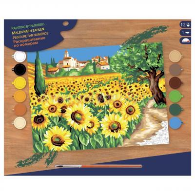 Купить КАРТИНА ПО НОМЕРАМ SENIOR SUNFLOWERS, 39Х30 СМ, SEQUIN ART (SA1333)