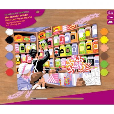 Купить КАРТИНА ПО НОМЕРАМ SENIOR SWEET SHOPPE, 38Х29 СМ, SEQUIN ART (SA1520)