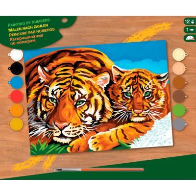 Купить КАРТИНА ПО НОМЕРАМ SENIOR TIGERS, 39Х30 СМ, SEQUIN ART (SA1039)