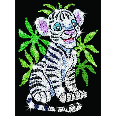 Купить НАБОР ДЛЯ ТВОРЧЕСТВАTOBY THE WHITE TIGER CUB, SEQUIN ART (SA0906)