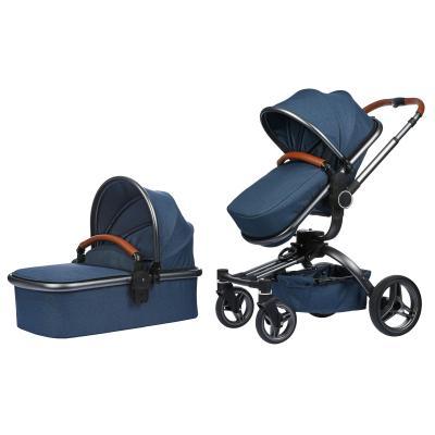 Купить УНИВЕРСАЛЬНАЯ КОЛЯСКА 2 В 1 V BABY X159 NAVY BLUE, MIQILONG (X159-09)