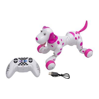 Купить РОБОТ-СОБАКА НА Р/У SMART DOG, БЕЛО-РОЗОВЫЙ, HAPPY COW (HC-777-338P)