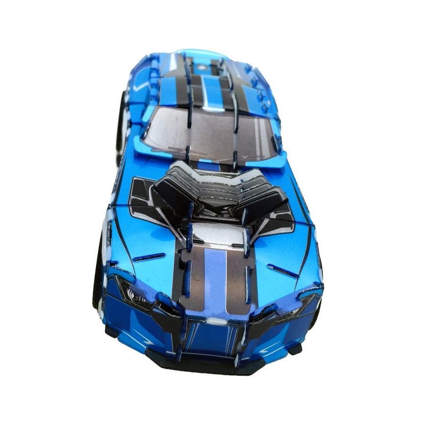 Купить ЗАВОДНОЙ 3D ПАЗЛ ГОНОЧНАЯ МАШИНА ICE BLUE, HOPE WINNING (HWMP-1010)_2