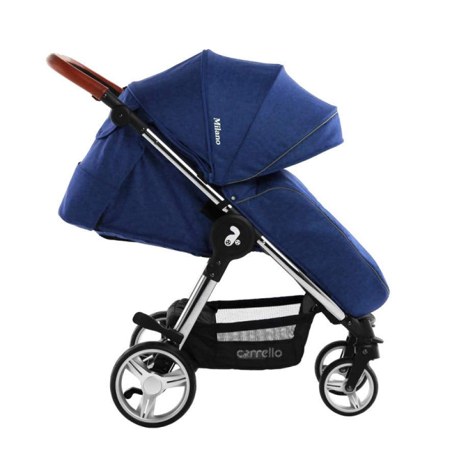 Купить ПРОГУЛОЧНАЯ КОЛЯСКА MILANO, СИНЯЯ, CARRELLO (CRL-5501 VELVET BLUE)_1