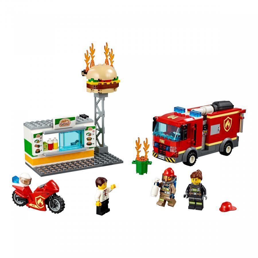 Купить LEGO ПОЖАР В БУРГЕР-КАФЕ, LEGO (60214)_1