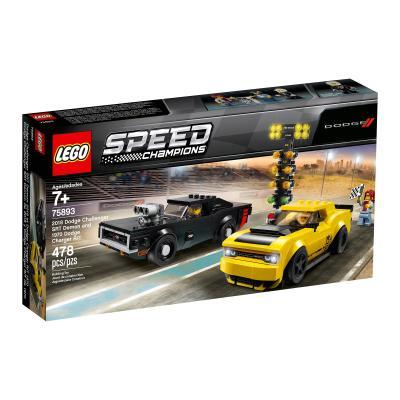 Купить LEGO АВТОМОБИЛИ 2018 DODGE CHALLENGER SRT DEMON И 1970 DODGE CHARGER R/T, LEGO (75893)