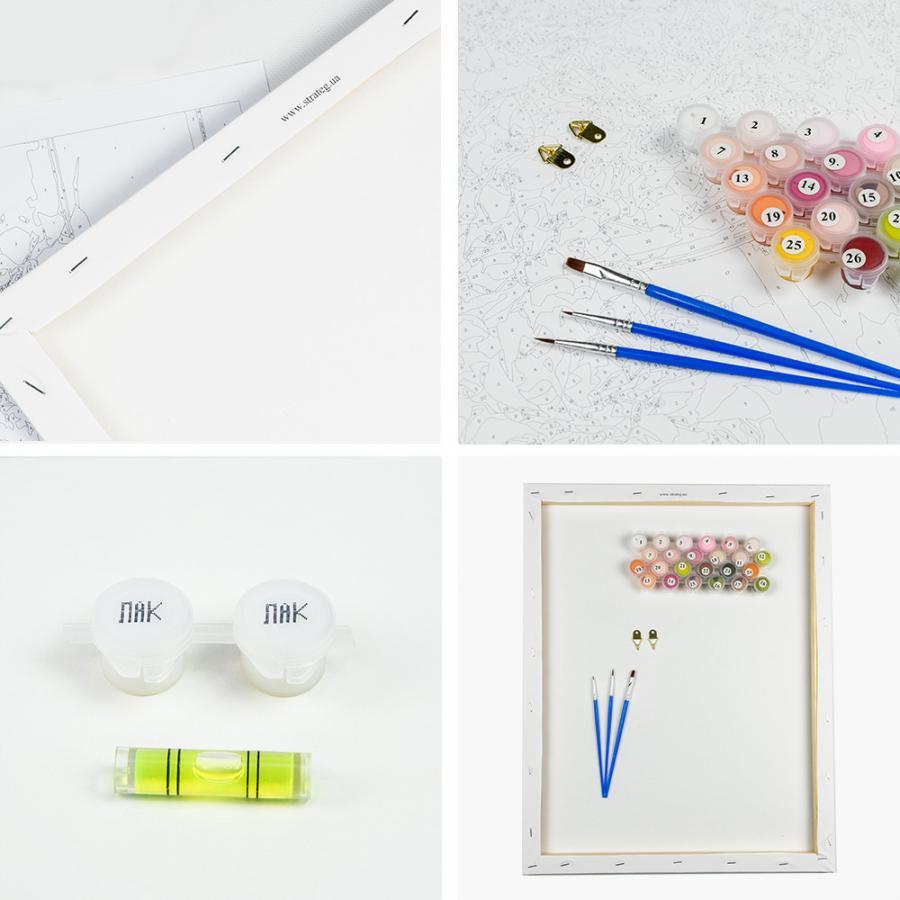 Купить КАРТИНА ПО НОМЕРАМ ТИГР, 40Х50 СМ, STRATEG (VA-0248)_1