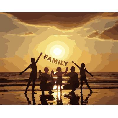 Купить КАРТИНА ПО НОМЕРАМ STRATEG FAMILY, 40Х50 СМ, STRATEG (VA-2658)