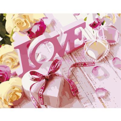 Купить КАРТИНА ПО НОМЕРАМ STRATEG LOVE, 40Х50 СМ, STRATEG (VA-2674)