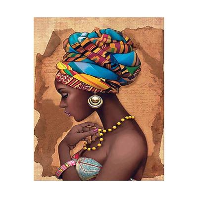 Купить АЛМАЗНАЯ МОЗАИКА STRATEG «ДЕВУШКА С АФРИКИ», 40Х50 СМ, STRATEG (FA20190)