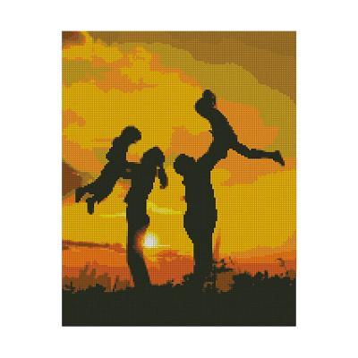 Купить АЛМАЗНАЯ МОЗАИКА STRATEG «СЕМЕЙНОЕ СЧАСТЬЕ», 40Х50 СМ, STRATEG (FA40806)